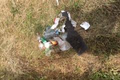 Odpadky nalezené za procházky v Puksejnech