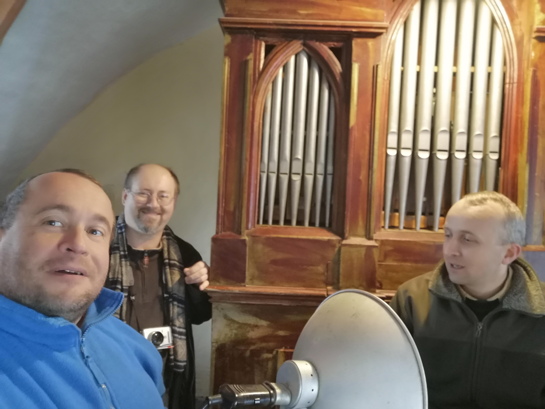 Jan Kynčl, Jakub Šolc a Petr Kaiser na kůru